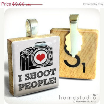 Memorial Day Sale I Shoot People a jewelry pendant by HomeStudio
