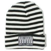 Rich Advisory Stripe Beanie