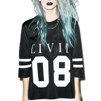 Civil Clothing Civil 08 Mesh Jersey Dress Black