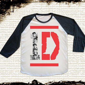 Size S -- 1D ONE DIRECTION T Shirts One Direction Shirts Baseball Shirts Jersey Shirts Raglan Shirts Long Sleeve Unisex Shirts Women Shirts