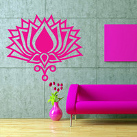 Wall decal art decor decals sticker hands Buddhism India Indian circle namaste flower OM Yoga success god lord (m61)