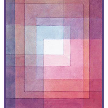 White Framed Polyphonically by Expressionist Artist Paul Klee Counted Cross Stitch or Counted Needlepoint Pattern