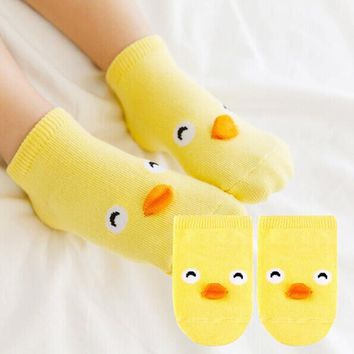 2015 Brand Cotton Baby Socks Pig Duck Cartoon Animal 3D Design Kids Socks Girls Boys Gift Magic