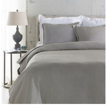 Avenue Gray Linen Duvet Collection