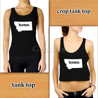 Montana Home 53b4a Custom Woman Crop Tank , Woman Tank Top , Man Tank Top