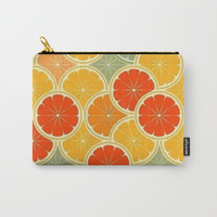 Summer Citrus Slices Carry-All Pouch by digitaleffects