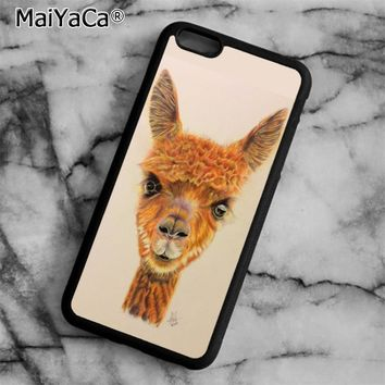 Cute Alpaca Cria Phone Case Cover for iPhone 5 5s SE 6 6s 7 8 Plus X for samsung S5 S6 S7 edge S8 Plus Shell