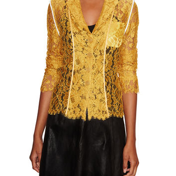 Paul Smith Women's Classic Lace Jacket - Yellow -
