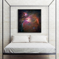 Orion Nebula Poster Space Poster Galaxy Print Astronomy Universe Hubble Telescope Interstellar Star Photos Constellations Milky Way