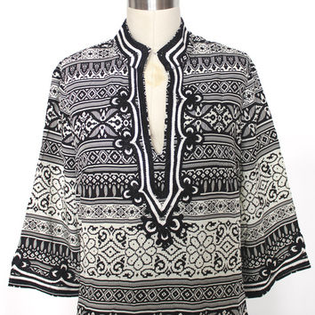 Black And White Resort Tunic (Ark & Co.)