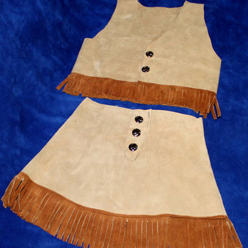 Cowgirl Indian Skirt and Vest