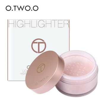 O.TWO.O Highlighter Makeup Contour Palette Make Up Eye Loose Powder Glitter Gold Makeup Palette Loose Powder