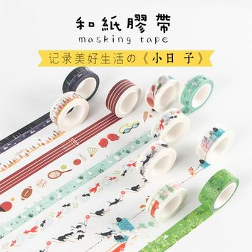 1.5cm*10M Japanese Infeel Me One of My Day Decorative Washi Tape DIY Scrapbooking Masking Craft Tape School Office Supplies