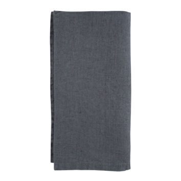 Dark Grey French Stonewashed Linen Napkins- Set of 2