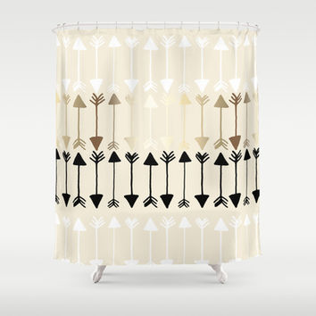 Arrows Shower Curtain by Tangerine-Tane