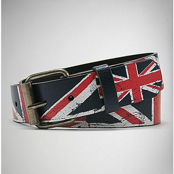 Distressed UK Flag Belt - Spencer's