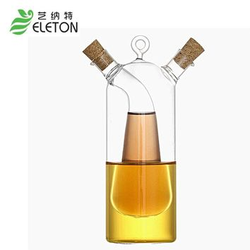 ELETON Kitchen Supplies Glass Olive Oil Bottle Kitchen Cruet Oil And  Vinegar Bottle Double Oiler Bottle