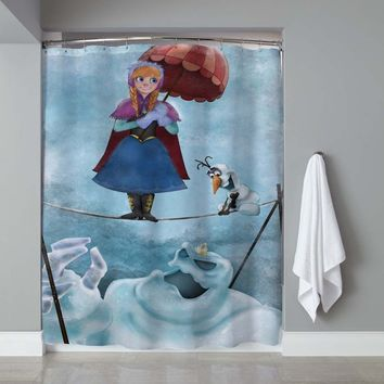 "New Frozen Elsa Haunted Mantion Disney Exclusive Design Shower Curtain 60""x72"""