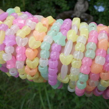 15 Glow In the Dark Kandi Bracelets, Cute, Colorful, Rave