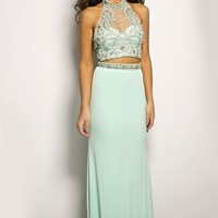 Halter Jersey Dress 24313 - Prom Dresses