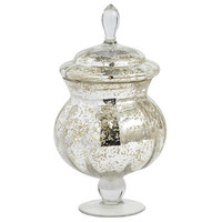 Mercury Glass Apothecary Jar - Small