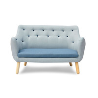 Baby Blue Modern Loveseat