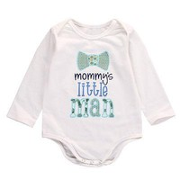 Autumn Spring Cotton Newborn Kids Long Sleeve Letters Romper Infant Baby Boys Girls Romper Jumpsuit Cotton Clothes Outfits