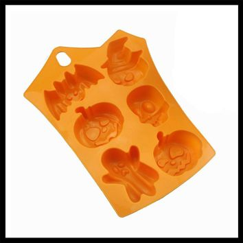 3D Pumpkin Silicone Mold Halloween Party Baking Pastry Soap Mold Candy chocolate gumpaste mould Fondant Cake Decoration Tools
