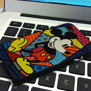Mickey Mouse Romero Britto iPhone 4 iPhone 4S Case