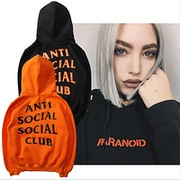 Orange hooded sweater