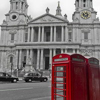 Red Telephone Boxes In London Photograph by Gary Eason - Red Telephone Boxes In London Fine Art Prints and Posters for Sale