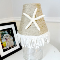Starfish Lamp Shade, Beach House Decor, Cottage Chic