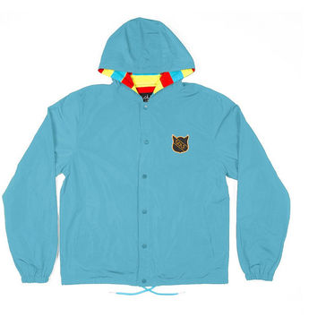 NATIVE CAT JACKET TEAL – golfwang