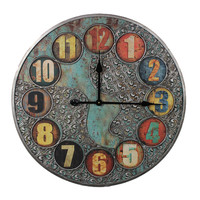 Unique and Stylish Vintage Themed Metal Wall Clock
