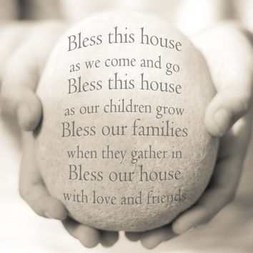 Bless this House Print, Housewarming Gift, Bless this House Quote, House Blessing Print, New Home Gift, Personalized New Home Gift, New Home