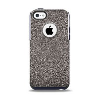 The Black Glitter Ultra Metallic Apple iPhone 5c Otterbox Commuter Case Skin Set