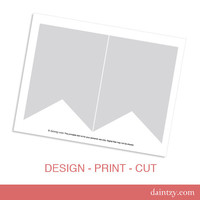 Instant Download: Party Printable Template - DIY Banner Flag Design Template by daintzy