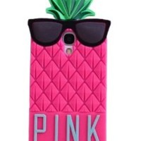 Rose Red 3D lovely Fruit Ananas Style Soft Case Protective Cover For Samsung Galaxy S4 I9500