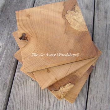 Spalted maple wood coasters