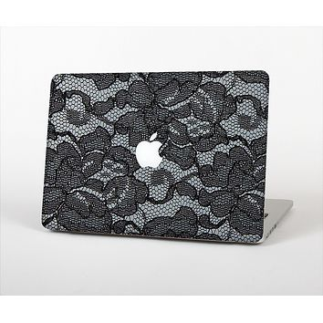 The Black Lace Texture Skin Set for the Apple MacBook Pro 13""
