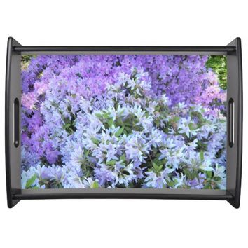 Rhododendron Bouquet Floral Serving Tray