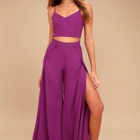 Out Tonight Magenta Two-Piece Jumpsuit