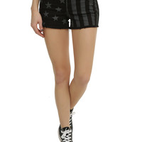Black & Grey Americana Shorts