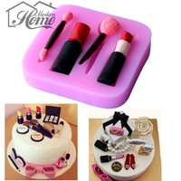 3D Make Up Set Shape Silicone Mold Fondant Chocolate Cake Mold Candy Cookie Jelly Decorating Tools Bakeware Soap Mould Bakeware