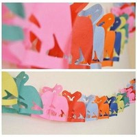Tropical Flamingo Paper Garland 13 Ft Long Hanging Decoration