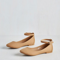 Minimal Here to Staple Flat in Natural by ModCloth