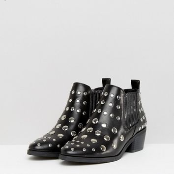 Coco Wren Studded Low Boot at asos.com