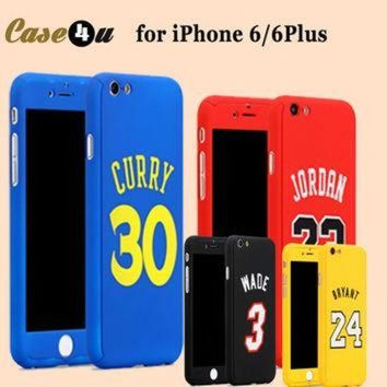 VONR3I New! Sports Basketball Star Full Body Protector Case Cover for fundas iPhone 7 6 6S Pl