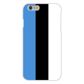 Apple iPhone 6 Custom Case White Plastic Snap On - Estonia - World Country National Flags