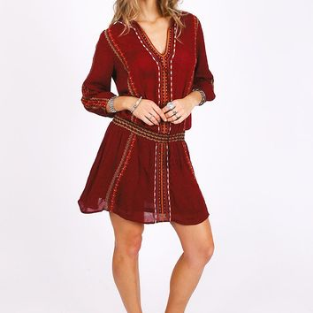 Twisted In Love Embroidered Dress